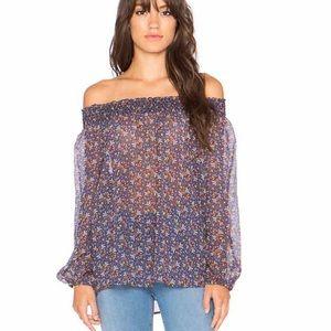 Joie Azzedine Silk off the shoulder blouse